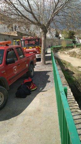 Bomberos de Guadix, en la búsqueda de un anciano