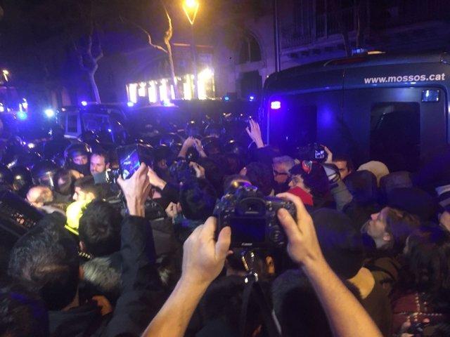 Protesta por el encarcalmiento de Jordi Turull y políticos soberanistas