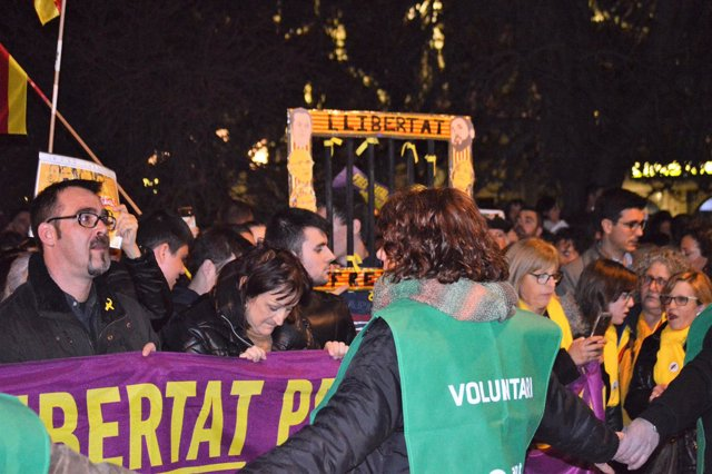 Concentración por los presos soberanistas en Lleida