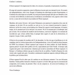 Carles Puigdemont demana fermesa, serenitat i la implicació de