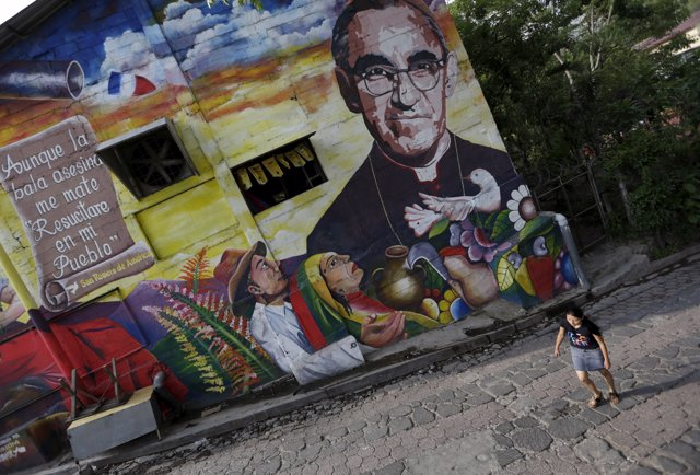 Mural del arzobispo Oscar Arnulfo Romero en El Salvador
