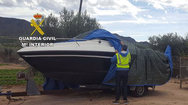 Embarcación cuyo robo se había denunciado en Almería
