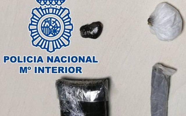 Detenido en la capital grancanaria por la posesión de hachís y cocaína