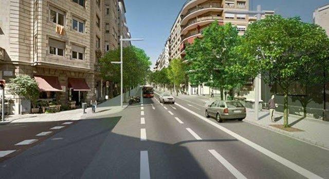 Remodelación de la avenida Príncep d'Astúries de Barcelona