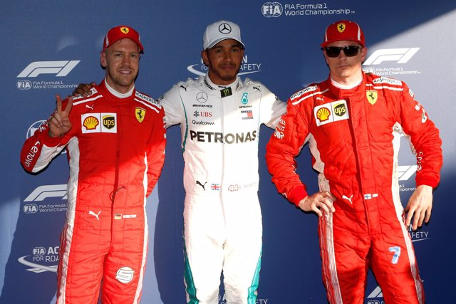 Formula 1 Australia Sebastian Vettel Lewis Hamilton Kimi Raikkonen