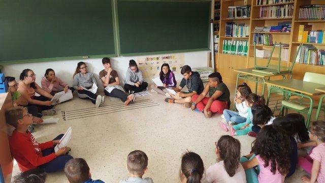 Colegio rural en la Sierra de Huelva.