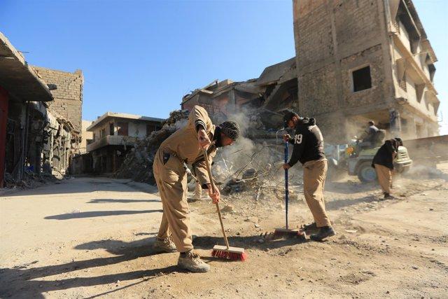 Limpieza en Mosul, 2018