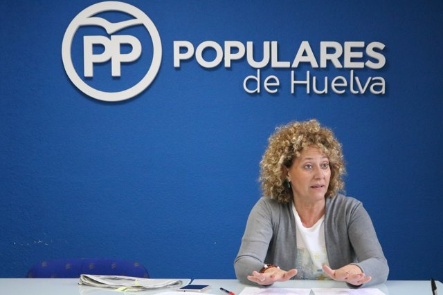 Pilar Marín, candidata del PP a la Alcaldía de Huelva.