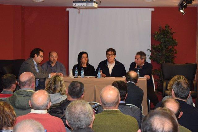 Comité Comarcal del PAR en Belmonte de Gracián (Zaragoza).