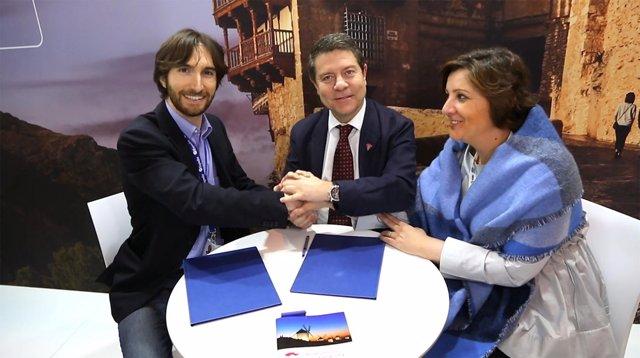 García-Page y Patricia Franco en la Borsa Mediterranea de Turismo