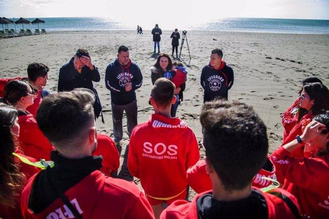 Tocón dispositivo de socorrrismo de Torremolinos durante Semana Santa playas