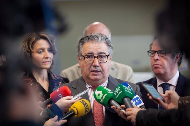 El ministro del Interior, Juan Ignacio Zoido, en declaraciones este sábado