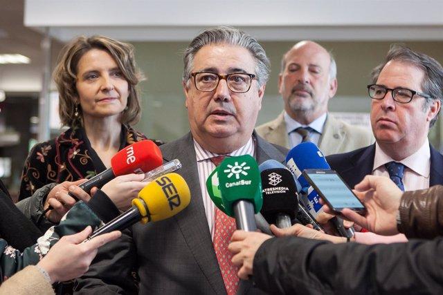 El ministro del Interior, Juan Ignacio Zoido, este sábado