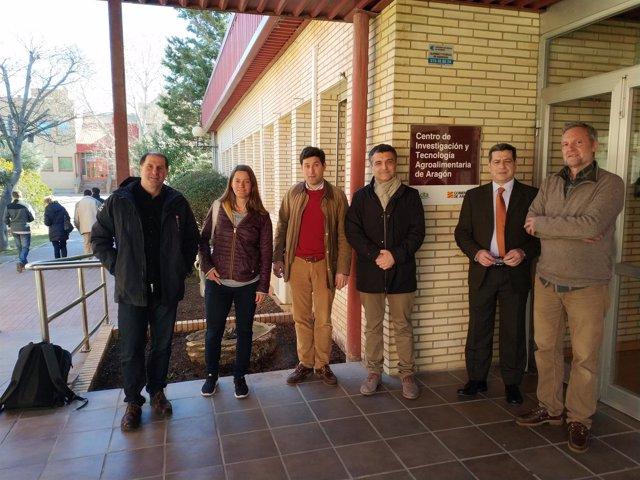 Representantes de centros europeos de investigación en trufas y setas en el CITA