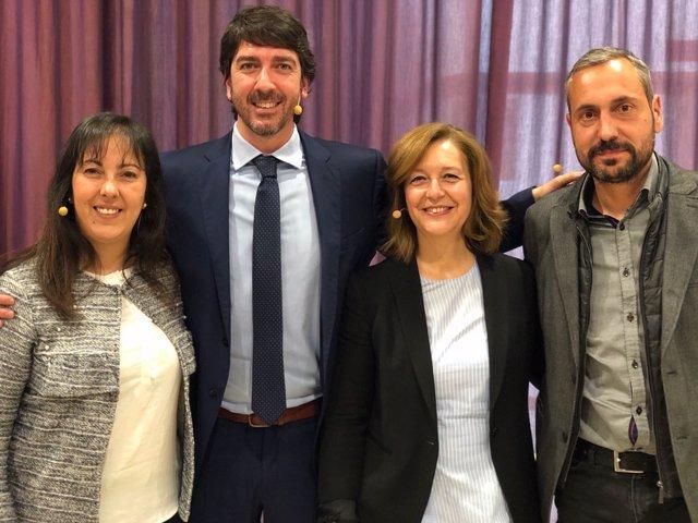 Sandra Zapatero, Sergio Del Campo, Carina Mejías Y Miquel Camps