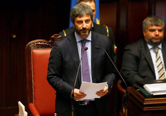 Roberto Fico (M5S), presidente de la Cámara de Diputados de Italia