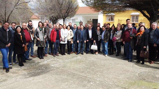 Ruiz Espejo en cuevas de san marcos reunión con socialistas de Nororma