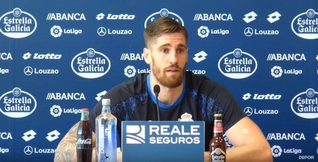Raúl Albentosa, jugador del Deportivo de la Coruña