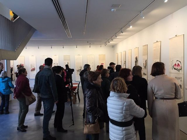Visitas obra Qi Baishi en Málaga en su primera salida de Asia, a Museum J Rando