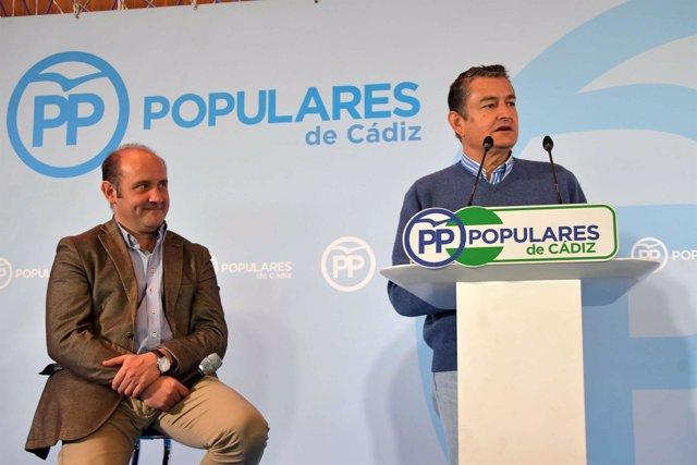 Acto de presentación del candidato del PP a la Alcaldía de Cádiz