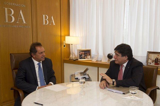 Daniel Sciolu y Carlos Zannini