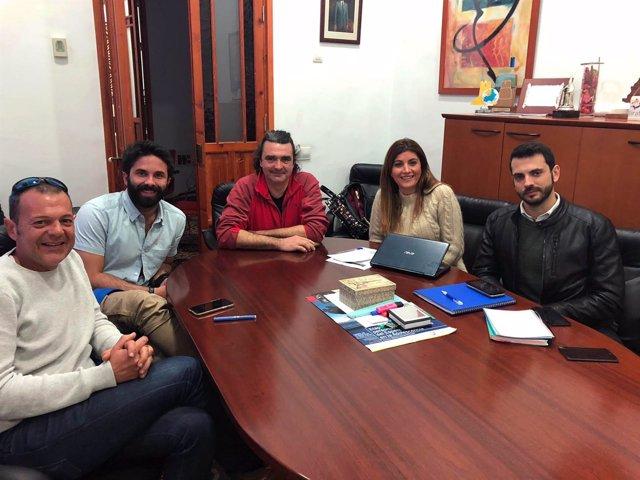 Reunión en Almería con la productora de la serie 'Los nuestros 2'