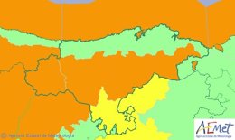 Mapa de avisos para este domingo en Cantabria