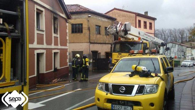 Incendio en Noreña.