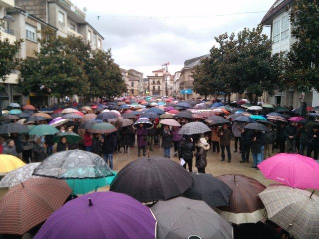 Imagen de la manifestación por la sanidad celebrada en Verín