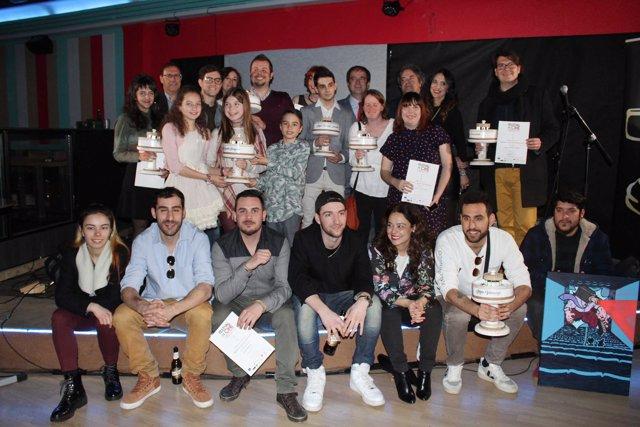 Foto de familia de los ganadores de Fecicam
