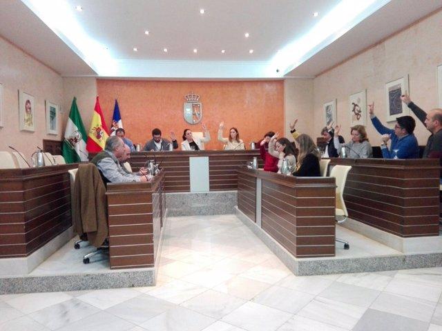 Pleno del Ayuntamiento de Almonte (Huelva)
