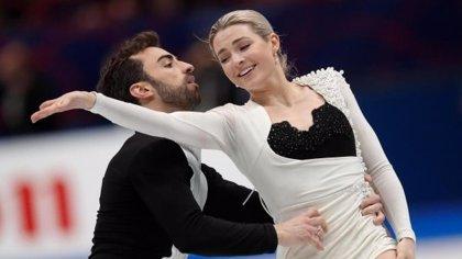 Aritz y Laura se superan y Olivia y Adrián rozan el 'Top 10' en el Mundial de Milán