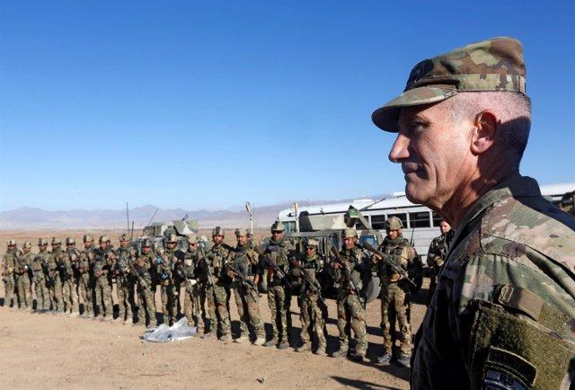 General John Nicholson, comandante de la operación Apoyo Resuelto