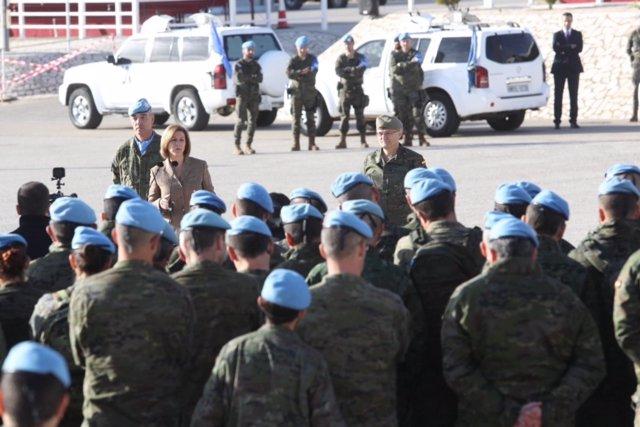 Cospedal visita a las tropas españolas en Líbano