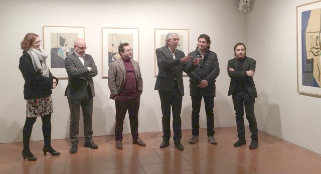 Inauguración de la muestra Gráfica 20 en la Fundación Santa María de Albarracín.