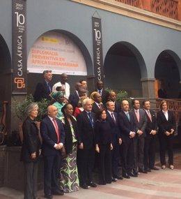 Asistentes a jornada sobre diplomacia preventiva en Casa África