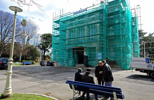Obras en el centro cultural Jado