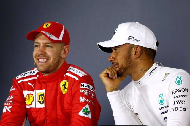 Sebastian Vettel Lewis Hamilton Australia