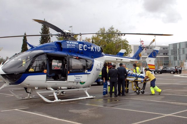 Helicóptero sanitario del Hospital Nacional de Parapléjicos