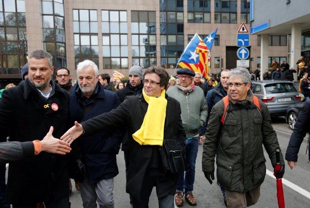 Puigdemont en Bruselas