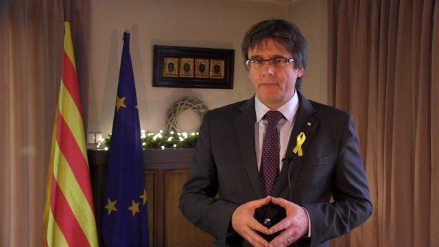 Discurso de fin de año de Carles Puigdemont