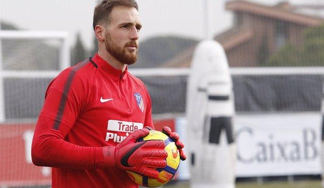 Jan Oblak Atlético entrenamiento