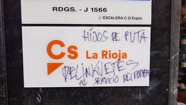 Tercer ataque a la sede de CS La Rioja en menos de un mes