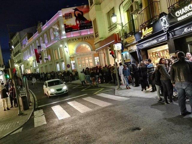 Cola en el Gran Teatro de Cáceres para el Fanter Film Festival