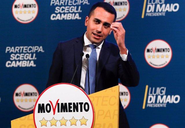 Luigi Di Maio, líder del Movimiento 5 Estrellas