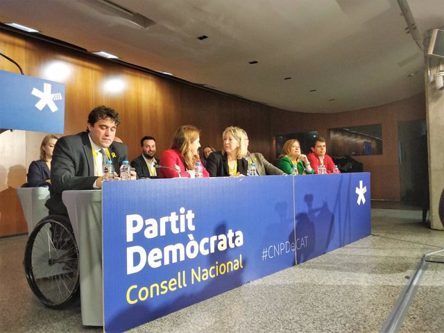 David Bonvehí, Marta Pascal, Neus Munté (Consell Nacional del PDeCAT)