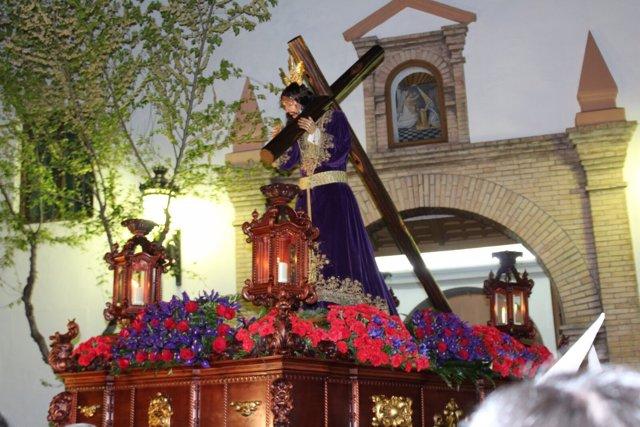 Nazareno de la Semana Santa de Lanjarón (Granada)