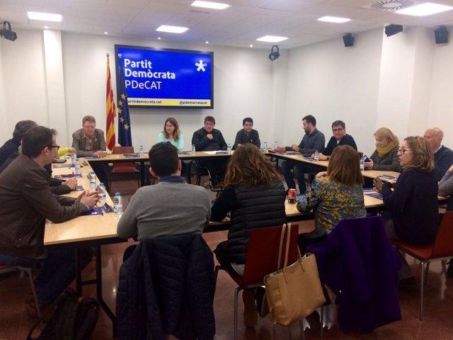 Ejecutiva ampliada del PDeCAT tras la detención de C.Puigdemont
