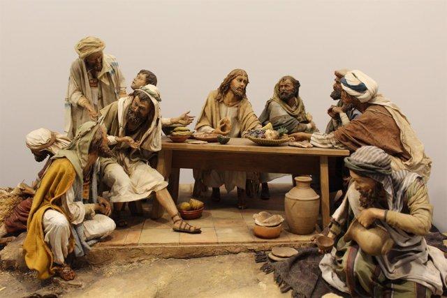 Museo de Belenes de Mollina exposición temporal con 12 escenas de la Pasión