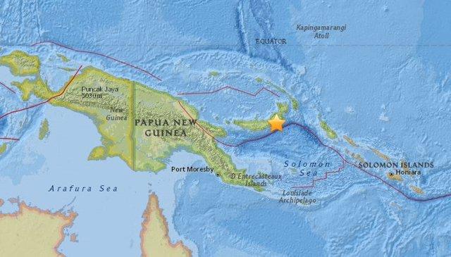 Terremoto de magnitud 7 en el este de Papúa Nueva Guinea